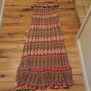 Derek Heart Strapless Maxi Dress Size Large
